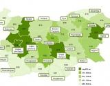 Заплатите в България. Области + размер