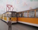 Умалени модели на трамваи в изложба